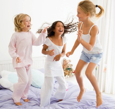 Kids Birthday Party Idea: Winter Sleep Over Parties