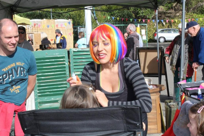 Face Painting at Winter Fest Careel Bay Marina 2016